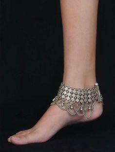 Silver Multi Chain Payal