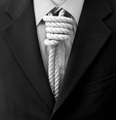 Felipe | Awesome Design Inspiration #office #photography #black and white #tie #knot #worker #suicide #felipe #noose