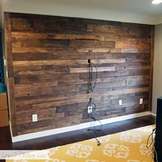 Pallet Wall #pallet #wall #diy #home #interior design