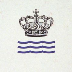 Royal Copenhagen Porcelain Manufactory Ltd. #crown #copenhagen #water #porcelain #retro #royal #logo #waves