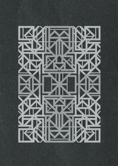 Geometric versions #versions #geometry #design #geometric #blaqk #posters #symmetry #greece #patterns #simek #athens