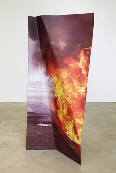Pennacchio Argentato - Set in the Same Universe, 2012 #flames #gallery #sculpture #form #installation #burning #photography #fire #crease #art #wrinkled