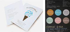 blue marble ice cream identity #branding #cream #food #identity #logo #ice