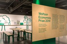 This year the Wolfson Economic Prize judged proposals for the creation of new garden city in England. We used clean graphics based on the pr #interior #vinyls #environment #cities #space #exhibition #spacewood #nature #green