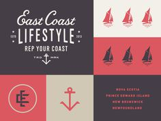 East Coast Lifestyle #simple #fun #graphic #clean