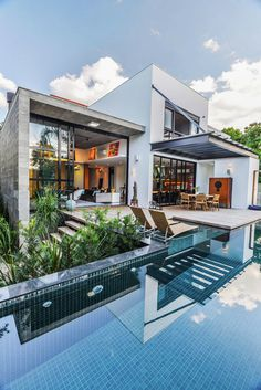 Contemporary Pool Residence With Amazing Interiors by Metroquadrado