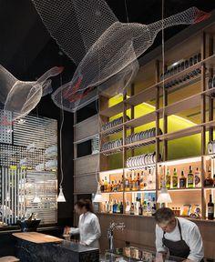 Cozy Restaurant with Playful Contemporary Design -#restaurant