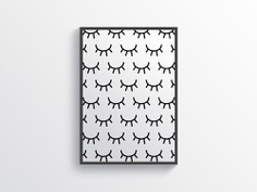 Simple Eyebrow Pattern Wall Art Poster
