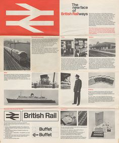 The New Face of British Railways #layouts #print #design #graphic #grids #editorial