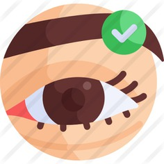 See more icon inspiration related to shapes and symbols, healthcare and medical, beauty salon, grooming, wellness, surgery, check mark, eyelid, beauty, done and eye on Flaticon.