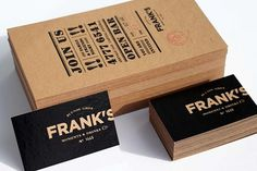 Franks Business Identity & Stationary #graphic design #branding #identity #stationery