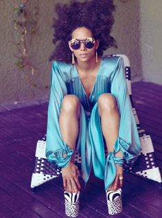 neonfix - hair - make up - style: Halle Berry for Interview Mag #glasses #sun #halle #berry #portrait #fashion