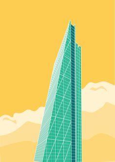 New Icons Of LondonJDGC Designs | THE KHOOLL #londres #london #ilustraciã³n #building #edificios