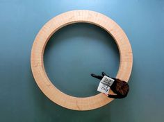 chris kabel: wood ring bench #product #furniture #design