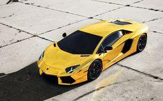 Yellow Lamborghini