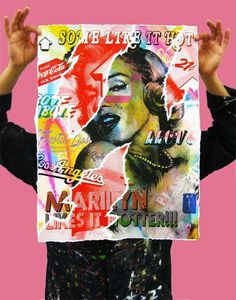 holdingmarilynpink1 #marilyn #poster