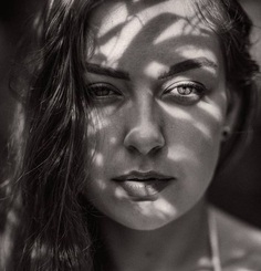 Beautiful Black and White Female Portrait Photography by Constantin Slotty
