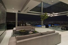 The Essence of Modern Living above LA: Luxury Mansion in Hollywood #interior #luxury #design #living-room