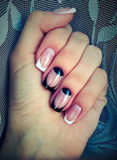 40 HALF MOON NAIL ART IDEAS