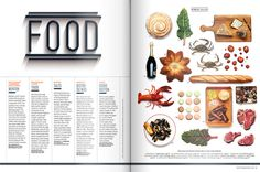 Best of Boston 2012 on the Behance Network #grid #layout #spread #food