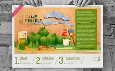 Camp Firebelly 2011 | The Strange Attractor #website #diorama #handmade
