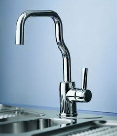 Modern Kitchens latest trend - La Cucina Alessi kitchens | Trendir #water #design #oras #faucet #alessandro #mendini