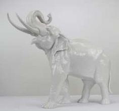 Allach Large Elephant #Sets #Teasets #Porcelainsets #Antiqueplates #Plates #Wallplates #Figures #Porcelainfigurines #porcelain