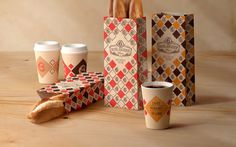 Boulangerie Paper Bags by Tough Slate Design