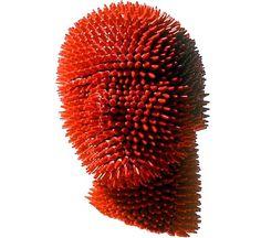 20091214_180952_crayonhead.jpg (JPEG Image, 490x450 pixels) #head #pencil #sculpture #red