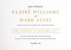 Minimal Foil - Wedding Invitations #paperlust #weddinginvitation #weddinginspiration #cards #paper #design #foilstamped