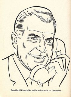 1969 ... coloring book Nixon! | Flickr Photo Sharing! #illustration #nixon