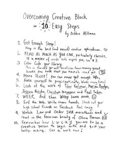 How to Break Through Your Creative Block: Strategies from 90 of Today's Most Exciting Creators | Brain Pickings #creative #advice #book #letter #hand