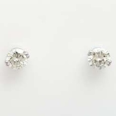 1 p brilliant stud earrings, approx 2.3 ct.