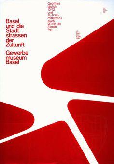 Armin Hofmann — Gewerbe Museum Basel poster (1961)
