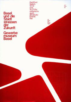 Armin Hofmann — Gewerbe Museum Basel poster (1961) #vintage #poster