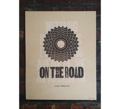 On The Road Letterpress Poster