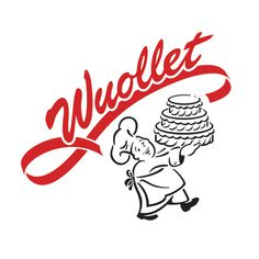 Wuollet Bakery #bakery #script #retro #food #illustration #logo