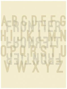 35cpnyo.jpg 1,207×1,599 pixels #typography #type #alphabet #abc #treatment #frontier