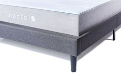 nectar King size grey bed-frame with headboard - side view