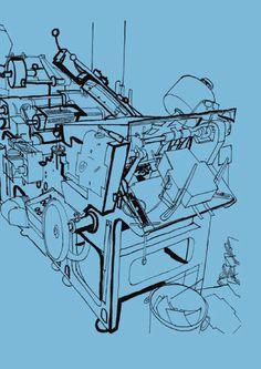 #Illustration of #Baddeley Brothers craftsmen, by #Lucinda Rogers