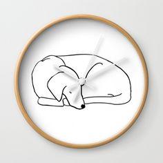 Sleepy Dog Wall Clock
