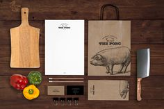 The Porc Bistro on Behance #pork #branding #packaging #design #graphic #food #pig #brand #style