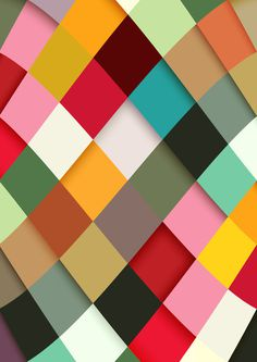 Colorful Art Print #graphic design #pattern #diamonds #colour #danny ivan