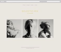 Because Studio — Design & Art Direction/Eclectic–Mix #logo #boutique #photography #typography