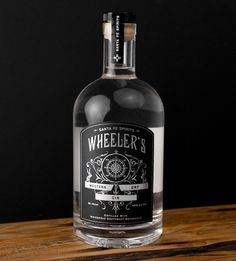 Wheeler's Western Dry Gin #packaging #product #design