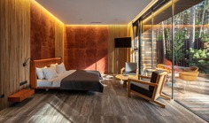 bedroom, Guest House by YOD Design Lab for Verholy Relax Park, Ukraine