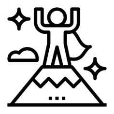 See more icon inspiration related to success, goal, flag, achievement, people, nature, business, mountains and business and finance on Flaticon.