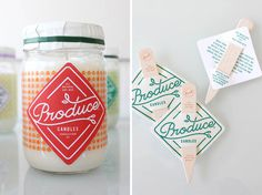 Stitch Design Co.: Produce Candles / on Design Work Life #packaging #type