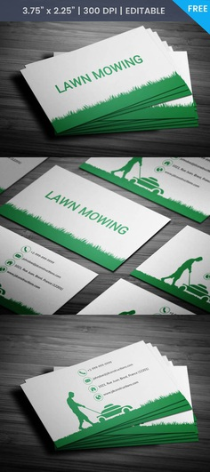Free Landscaping Services Business Card Template