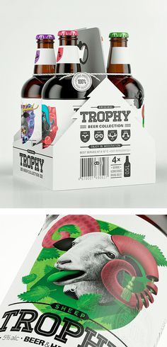 Trophy Beer by Galya Akhmetzyanova #packaging #beer